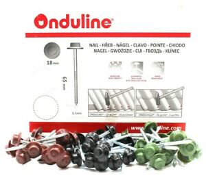 Onduline Roofing Nails Black Green Red Roof Sheet Fixing Nail Coroline Ebay