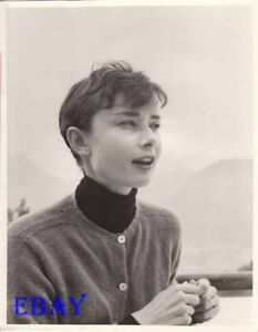 Audrey Hepburn Candid W Short Hair Photo From Original Negative Ebay