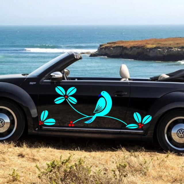 Car Bird Trees Cartoon Door Decal for Beetle Vinyl Graphics Side sticker #217