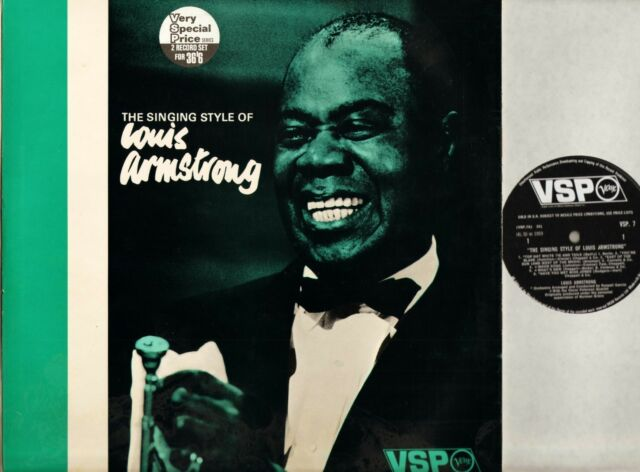 LOUIS ARMSTRONG the singing style of VSP 7/8 A1/B1/A1/B1 uk DOUBLE LP PS EX/EX
