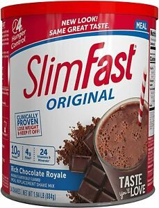 Slim Fast, Original Meal Replacement Shake Mix, Rich Chocolate Royal 31.18 Oz