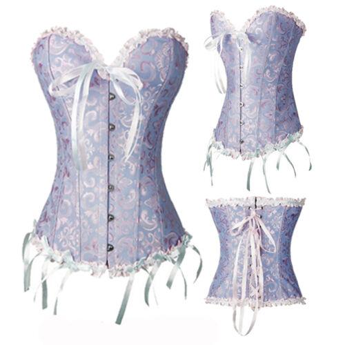 Corsets And Basques Lace Up Lingeries Boned Plus Size Burlesque Costume Bustier