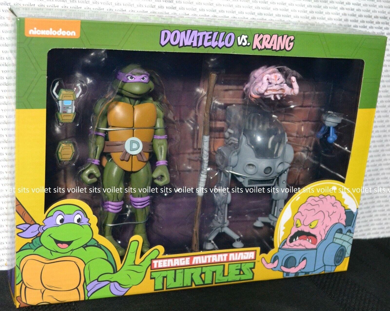 NECA TMNT Teenage Mutant Ninja Turtles Exclusive cifra Donatello contro Krang