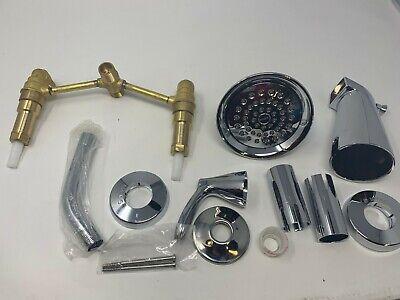 Shower Faucet W Valve Moen Adler 2 Handle 1 Spray Tub 82602