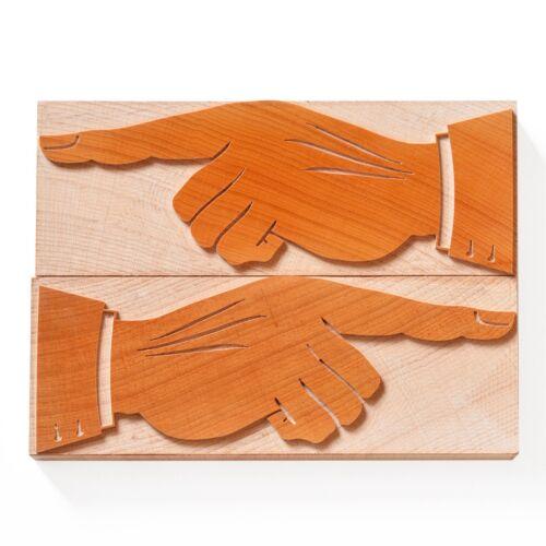 50,8 mm wood type 12 line Letterpress Manicule - 2 pieces No.07