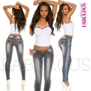 Sexy-Skinny-Leg-Cut-Women-039-s-Stretch-Jeans-Denim-Size-6-8-10-12-14-XS-S-M-L-XL