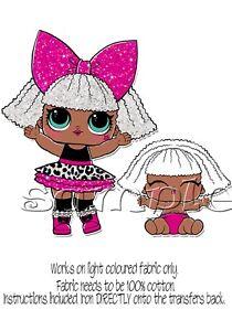 Iron on transfer lol doll dolls surprise glitter diva lil sister 15x14cm ebay - Diva lol surprise ...