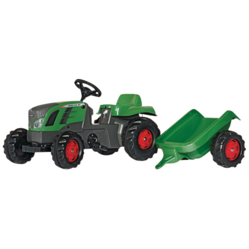 013166 Rolly Toys Fendt Vario 516 mit Kid Trailer aufklappbare Motorhaube
