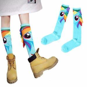 663ff59013c Anime My Little Pony Knee High Socks Cute Rainbow Dash Cosplay ...