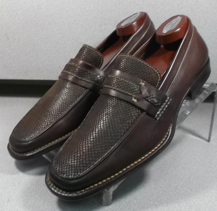 f0f1b6b50a7 15NP505166 DS50 Men s shoes Size 9 M Brown Leather Slip On Johnston   Murphy