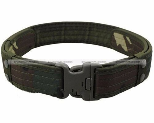 Tactical Outdoor Military Security Police SWAT Utility Nylon Duty Pants Belt S8