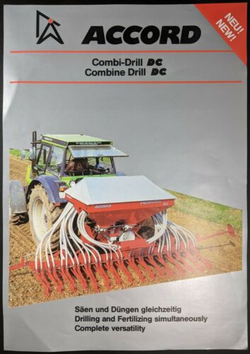 German /& English Original 1 Sheet Sales Brochure For Accord Combi Drill DC
