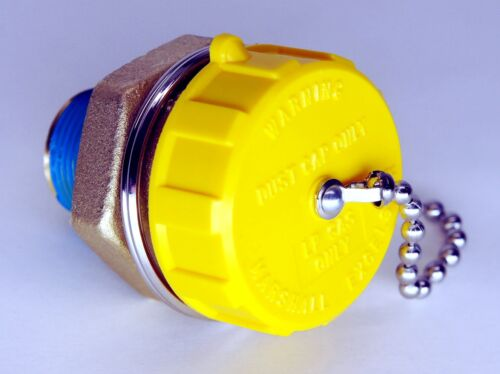 """PROPANE TANK 1-3//4/"""" ACME FILL VALVE CAP WITH TETHER CHAIN FORKLIFT MOTORHOME LPG"""