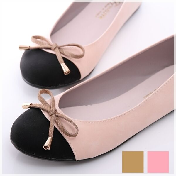 BN Wedding Bowed Comfy Darling Casual Work Ballerinas Flats Shoes Pink Brown