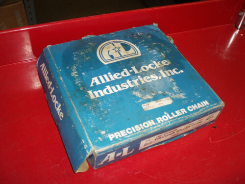 """Details about  / ALLIED ROLLER DRIVE CHAIN DOUBLE 60-2R  10FT LONG    3//4/"""" X 1//2/""""    21LBS NEW"""