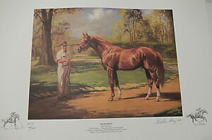 1989 Helen Hayse Secretariat -Signed Race Horse Lithograph Print #443 of 500💎