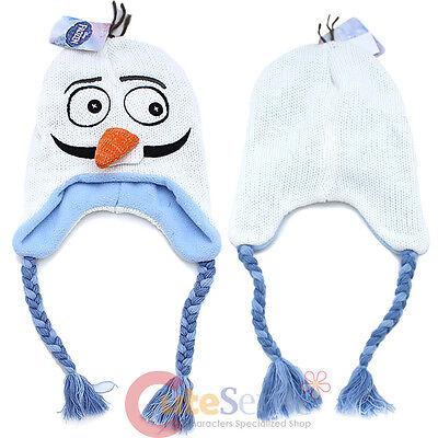 Disney Frozen Olaf Face Laplander Beanie Elsa Anna Friends Snowman Knitted Hat