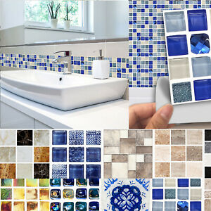 Mosaik Fliesenaufkleber Fliesenfolie Selbstklebend Küche ...