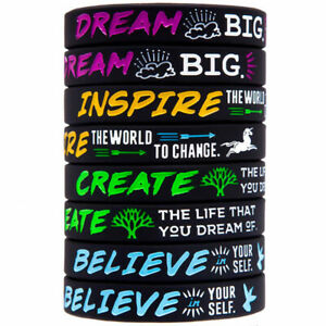 pc-Dream-Create-Inspiring-Bracelets-Motivational-Messages-Silicone-Bracel-nBSSV