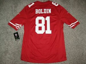 Details about NWT Anquan Boldin San Francisco 49ers Red Medium Mens Nike Game Jersey