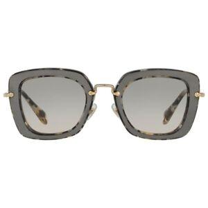 dc6d013817a0e MIU MIU Sunglasses SMU 07O DHE-3H2 Marble White Black Gradient Beige ...