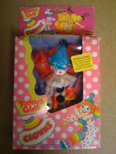 Vintage NOS Ultra Rare Creata Doll Today's Girls Clowns NRFB Joco