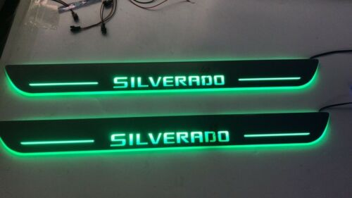 LED Door Sill Scuff Light For  Chevy Silverado 2pc for front
