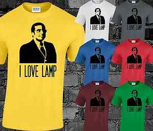 Image Is Loading I Love Lamp Mens T Shirt Top Brick