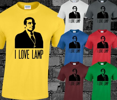 I Love Lamp Mens T Shirt Top Brick Tambland Funny Quote Anchorman Inspired S-3XL