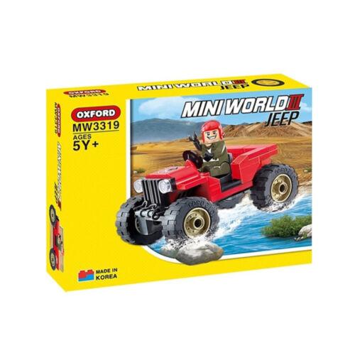 Oxford Block Mini World Assembly Block Kit Jeep MW3319 5Y+