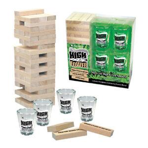Stonerware-034-HIGH-TOWER-GAME-034-Stack-039-em-High-amp-Get-Smoked-Janga-Wooden-Block-Shot