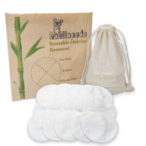 Reusable Bamboo Makeup Remover Cotton Pads Natural