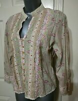 BLOUSE TOP SHIRT SMALL S FLORAL FLOWERS PRINT BOHO GYPSY COTTON RIVER ISLAND