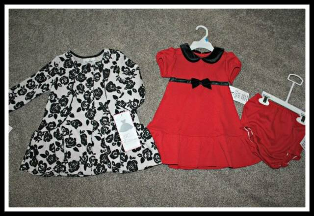 Rare Editions Dress Coat Set Holiday Winter Boutique Girls Size 12 24 Months NWT