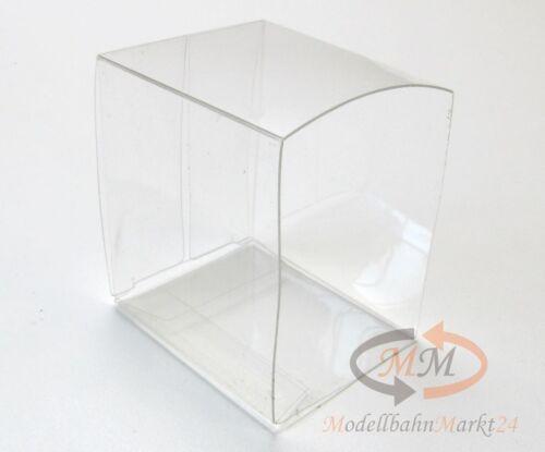 10 x Stülper Klarfaltbox Klarsichtbox für 300er//160er Boxen Spur H0 50x55x41 mm