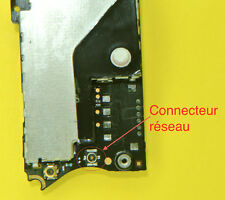 Remplacement connecteur Réseau iphone 4  soudure repair carte mere motherboard