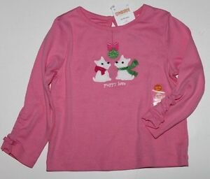 Gymboree nwt girl s 12 18 24 mo 2t pink cheery all the way puppy mix