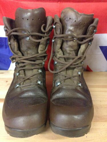 de authentiques 1 utilisées plusieurs Gr l'armée responsabilité Bottes haute tailles à de britannique combat Haix Brown RPOqxd