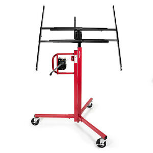 Drywall Panel Lifter Lift Jack Hanging Hoist - 11' Red