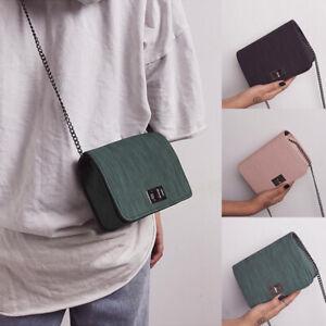 Women-PU-Buckle-Chain-Crossbody-Shoulder-Bag-Small-Handbags-Cloth-Pattern