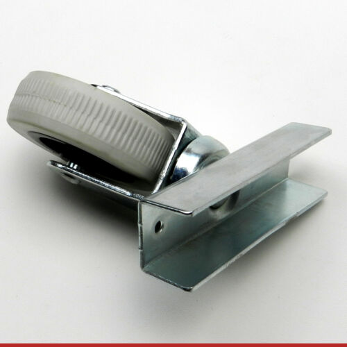 2 Heavy Duty 70 mm Replacement U Bed Base Castor Wheel Caster Wheel Swivel Plate
