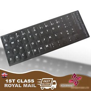 Initiative Relégué Black Replacement Keyboard Stickers Black Letters Ordinateur Portable-afficher Le Titre D'origine
