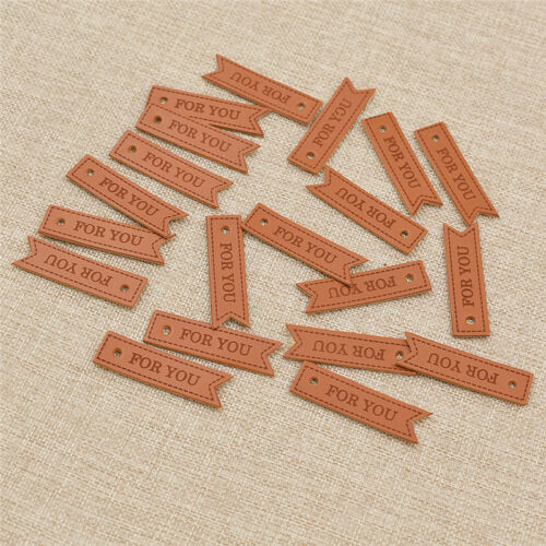 PU Leather Garment Labels DIY Handmade Tags Patchwork Apparel Sewing Accessories