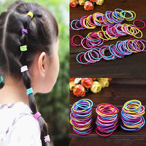 Baby-Kids-Girl-100-Pcs-Elastic-Hair-Bands-Ponytail-Holder-Head-Rope-Ties