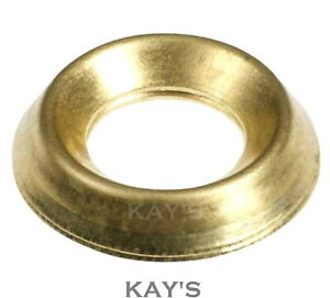 Celtic Woods Brass Plate Screw Cup Washer No 10 Size Pack Of 20