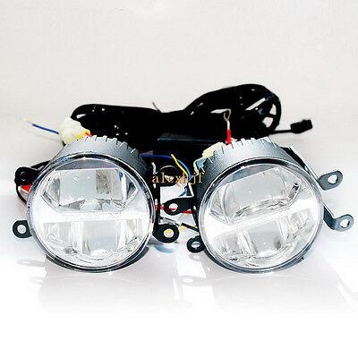 1400LM 24W Bifocal LED Fog Lamp DRL for Ford Mitsubishi Suzuki Opel Subaru etc