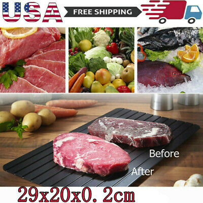 Quick Defrosting Tray Metal Rapid Meat Defrost Thaw Frozen Food Meat Plate US