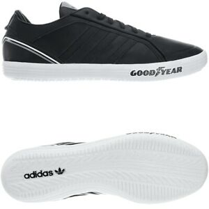 Details about Adidas Goodyear Driver Vulc black Men's leather Low-Top sneakers trainers NEW