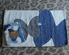 West Elm Butterfly Mariposa Shower Curtain and Bath Mat Blue Gray white 2pc