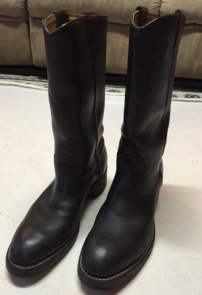 Collins Black Leather Work Boots With Dyna-Tred, Oil & Chemical Resistant